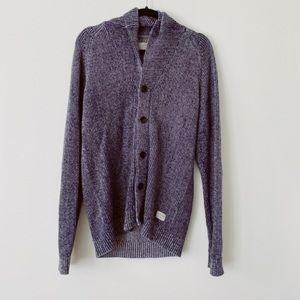 Original JAck& Jones Blue/Grey Cotton  Sweater